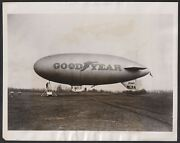 1931 Goodyear Blimp Sweeping Artistic Photograph Of Iconic Airship