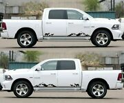 For Dodge Ram Rt Side Sticker Decal Vinyl Kit Door Sill Headlight Bumper Door