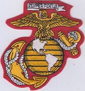 50 Pcs Usa Marine Corps Logo Red Embroidered Patches 4x4 Iron-on