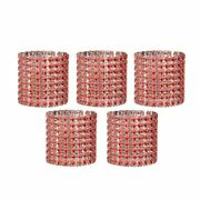 10pcs Silver Rhinestone Napkin Rings Wedding Party Holder Chair Cover Decoration