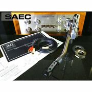 Saec We-308l Long Tone Arm Shell Cable Included Lifter Oil Replenished Ex+