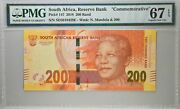 Reserve Bank South Africa 200 Rand 2018 Commemorative Pmg 67epq