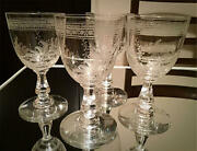 4 Old Baccarat Fougandegraveres Wine Glasses Extremely Rare 1880 Crystal Ship From Japan