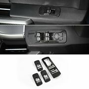 Carbon Fiber Grain Window Lift Panel Switch Trims For 2015-2018 Ford F150 Access