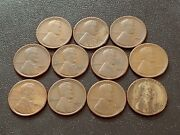 Nice Lot Of 11 Good-vg 1926-s Lincoln Cents