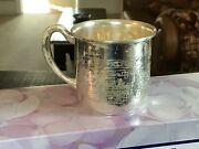 Antique Sterling Silver Baby Child Cup Nursery Rhyme Humpty Dumpty