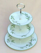 Royal Worcester Cafe Fleur Three Tier Cake Stand
