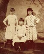Tintype Photo Of An Older Boy In A Dress With His Sisters Volusia Countyflorida