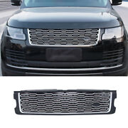 For 13-2017 Range Rover L405 Silver Front Upper Bumper Mesh Grill Grille Replace