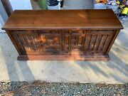 Vintage Curtis Matheus Wooden Stereo Console - Am / Fm Radio W Record Player