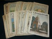 1916-1924 Christian Herald Magazine Lot Of 89 - Great Covers And Ads - O 2215