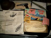 Aurora Famous Fighters Viking Ship Model Kit 1957 Tie In To Movie The Vikings
