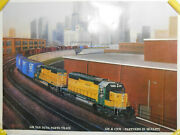 16x23 General Motors Van Nuys Parts Train North Western Union Pacific Poster