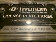 Hyundai License Plate Frame. Says 2012 North American Car Of Yr. Have 3 For Sale