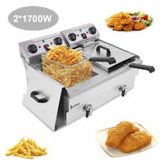 Single And Double Cylinder Electric Fryer Electric Fryer Commercial Restaurant