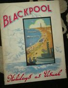 Blackpool Vintage Wwii 1940 Holiday As Usual Brochure Guide Book War