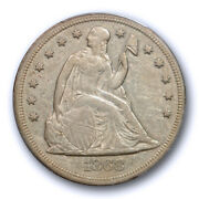 1868 1 Seated Liberty Dollar Pcgs Xf 40 Extra Fine Key Date Tough Coin