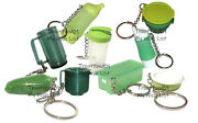 Tupperware Mixed Lot Of 9 Keychains Some Rare Fun Sized Mini Gadgets New Green