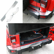 Fit For Jeep Wrangler Jk 2007-2017 Silver Rear Bumper Sill Plate Protector 3pcs