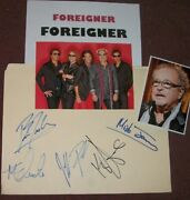 Foreigner Autographed Card With Photo And Photos -collectible