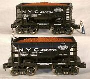 Rmt/ready Made Trains 70 Ton Ore Car W/load New York Central 2/pk. O Gauge