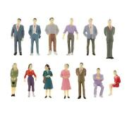 13pcs 150 Painted Model Train Layout Tiny People Figures O Scale Figurines