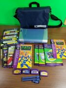 Leap Frog Quantum Pad Learning System - 4 Game Cartridges, Books, Carry Bag/case