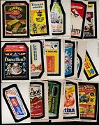 1974 Topps Wacky Packs Series 5 Complete Set 32/32 Ex- Packages Trix Shot Wheels