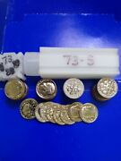 1973-s Proof Roosevelt Dimes,,from Us Proof Sets, 50 Coin Roll