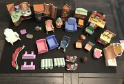 Lot 32 Pieces Fisher Price Loving Family Dollhouse Furniture And Accessories.