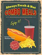 Hot Dog Combo Meals Decal Choose The Size V Food Truck Concession Sticker