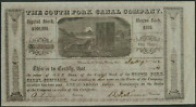 Placerville El Dorado Ca 1852 Stock Certificate South Fork Canal Co. - Mining