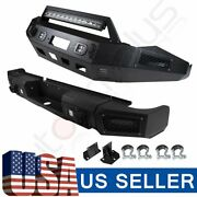 Aggressive Style - Front Rear Bumper Built-in 5 Led Lights For Ram 1500 13-18