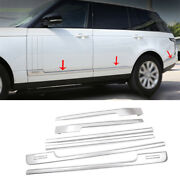 For Range Rover L405 2013-2020 Matte Silver Body Door Side Molding Sill Guard