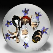 Jim Dand039onofrio 2002 Artist Proof Mythical Faces Glass Paperweight