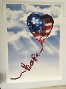 Mr. Brainwash Hope Independence Day Art Print Silkscreen S/n Only 95 Sold Out