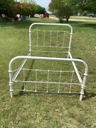 Antique Vintage Victorian Iron Bed Frame Double Full Size With Rails
