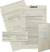 James M. Original Book Contract For Our Government Signed By Cain And 59083