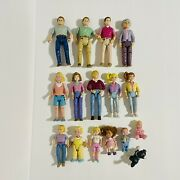 Vintage Fisher Price Loving Family Dollhouse Figures People Lot Of 16