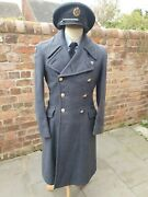 Royal Air Force Officer's Great Coat Raf Greatcoat No 1 Post Ww2 Airman