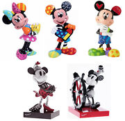 Disney By Britto Mickey Mouse And Minnie Mouse Figurines New In Gift Box