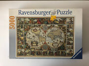 5000 Pieces Jigsaw Puzzle Ravensburger Historical Map Of The World Very Rare