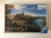 5000 Pieces Jigsaw Puzzle Ravensburger Village On The River Brueghel Very Rare