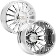 Set Of 6-20 Inch Cali 9110d Summit Dually-lifted 8x200 Polished Wheels Rims