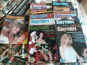 Lot Of 13 Vintage 1980 Easy Rider Easyriders Motorcycle Magazines Complete Year