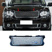 Fit For 2005-2012 Range Rover Blackandsilver Front Center Mesh Grille Grill Cover
