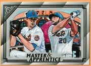 2020 Topps Gallery Master And Apprentice Jacob Degrom/pete Alonso 3 New York Mets