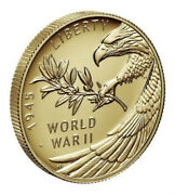 2020 End Of World War Ii 2 Ww2 75th Anniversary 24 K Gold Coin 1/2oz Investment
