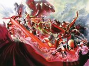 Alex Ross Signed X-men Evolution Deluxe Giclee On Canvas Limited Edition Of 100