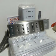 Hubbell Industrial 7 Gang Switch Toggle Brushed Stainless Steel Wall Plate